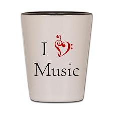 I Heart Music Shot Glass