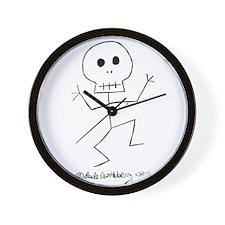 Scary Stickman Wall Clock