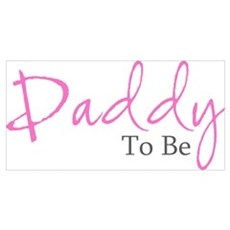 Daddy To Be (Pink Script) Framed Print