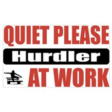 Hurdler Work Poster