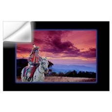 Warrior At Sunset Wall Decal