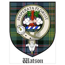 Watson Clan Crest Tartan Poster