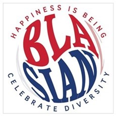 Happiness is Being Blasian Poster