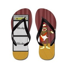 Sock Monkey Guitar Flip Flops