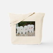 Samoyed Puppies Tote Bag