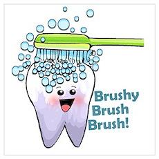 Brushy Brush Brush Poster