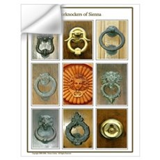 Doorknockers of Sienna (Lady) Wall Decal