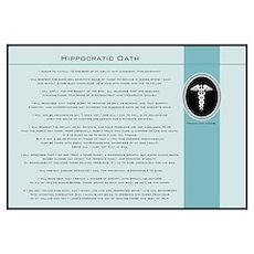 Hippocratic Oath Blue Poster