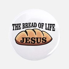The bread of life Jesus Button