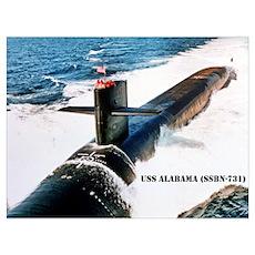 USS ALABAMA Poster