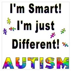 Autistic-Smart, Just Different! Framed Print