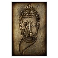 buddha skull print Poster