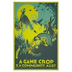 GAME CROP 11x17 Poster