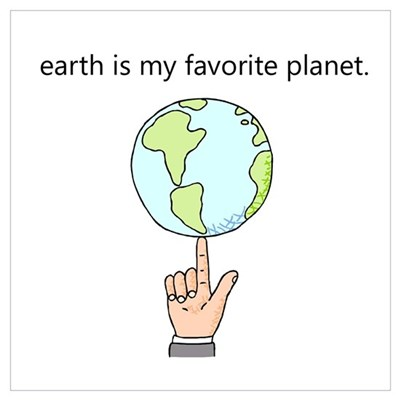 """Favorite Planet"" Framed Print"