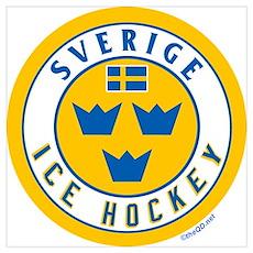 SE Sweden/Sverige Hockey Poster