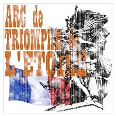 Arc de Triomphe Distressed Framed Print