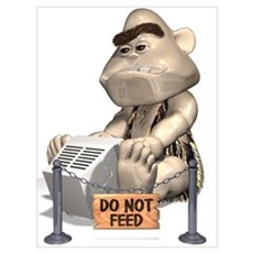 Do not feed Poster