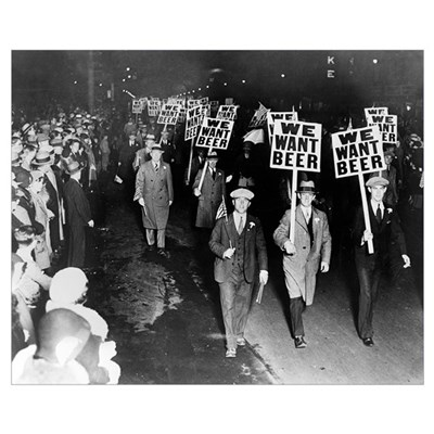 We Want Beer! Prohibition Protest, 1931 Canvas Art
