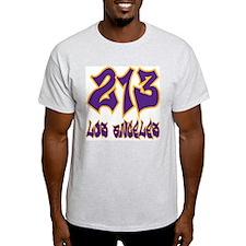 "LA ""Lakers Colors"" Ash Grey T-Shirt"