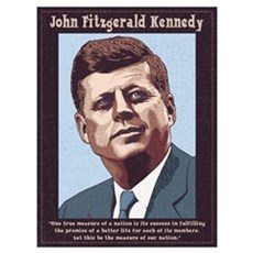 JFK - Measure Framed Print