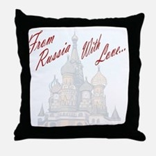 From Russia Throw Pillow