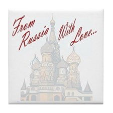 From Russia Tile Coaster