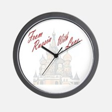 From Russia Wall Clock