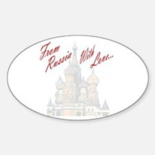 From Russia Oval Decal