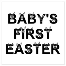 BABY'S FIRST EASTER Poster