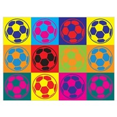 Soccer Pop Art Poster