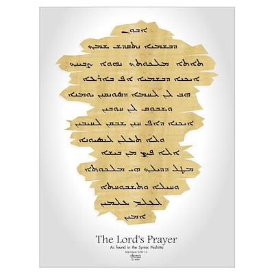 Syriac Lord's Prayer Poster