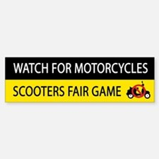 Watch For Motorcycles Bumper Bumper Bumper Sticker