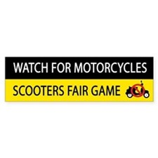 Watch For Motorcycles Bumper Bumper Sticker