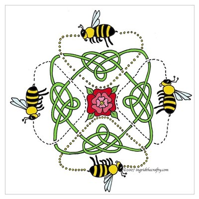4 Bees Knot Poster