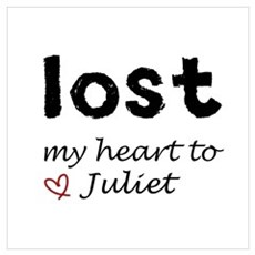 LOST my heart to Juliet Framed Print