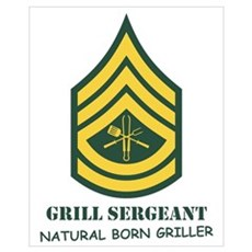 Grill Sgt. Framed Print