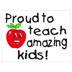 Proud To Teach Amazing Kids Framed Print