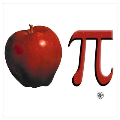 Apple Pi Canvas Art