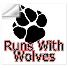 Runs With Wolves Wall Decal