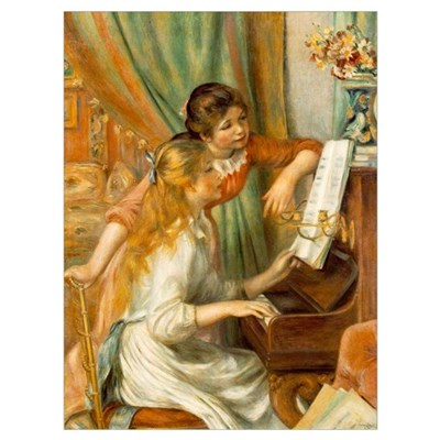 Girls at the Piano Canvas Art