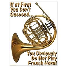 French Horn Perfection Framed Print