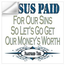 Jesus Paid Wall Decal