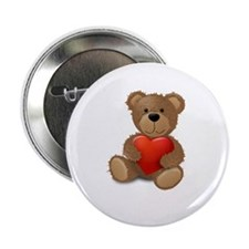 "Cute teddybear 2.25"" Button (100 pack)"