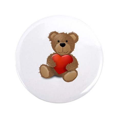 "Cute teddybear 3.5"" Button"