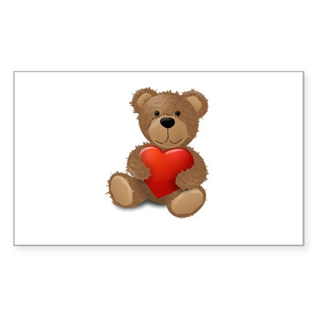 Cute teddybear Sticker (Rectangle)