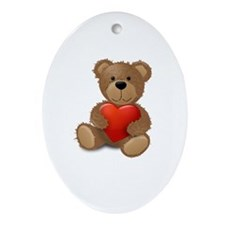 Cute teddybear Ornament (Oval)