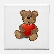 Cute teddybear Tile Coaster