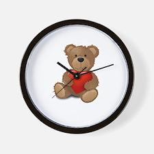 Cute teddybear Wall Clock
