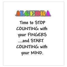 ALGEBRA TIME TO STOP COUNTING Poster