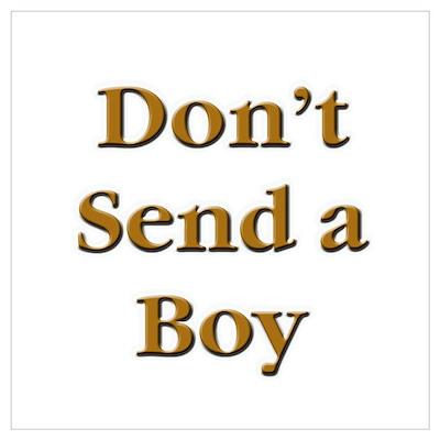 Don't Send a Boy Poster